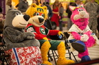 Hobey the Bear from Waterpark of America joins the other mascots.